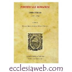 PONTIFICALE ROMANUM. EDITIO PRINCEPS 1595-1596