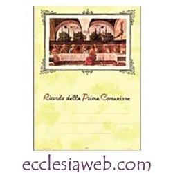 RICORDO PRIMA COMUNIONE IN CARTONCINO