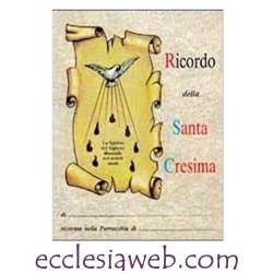 RICORDO SANTA CRESIMA IN CARTONCINO