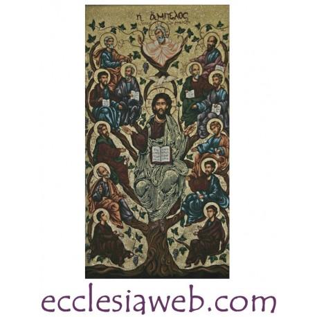 TELO DA PARETE - CRISTO PANTOCRATE E APOSTOLI