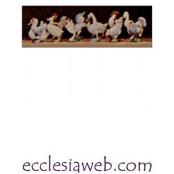 GALLINACEI - PERSONAGGI PRESEPE SERIE ALTEZZA 10 CM