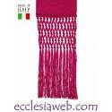 FASCIA ECCLESIASTICA IN MISTO SETA COMPLETA DI FRANGE 85-95 - S