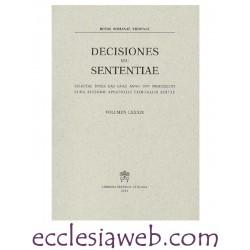 ROTAE ROMANAE DECISIONES SEU SENTENTIAE VOLUME 89 (1997)