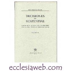 ROTAE ROMANAE DECISIONES SEU SENTENTIAE VOLUME 91 (1999)