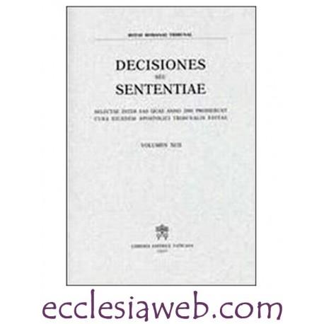 ROTAE ROMANAE DECISIONES SEU SENTENTIAE VOLUME 94 (2002)