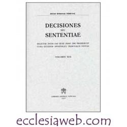 ROTAE ROMANAE DECISIONES SEU SENTENTIAE VOLUME 95 (2003)